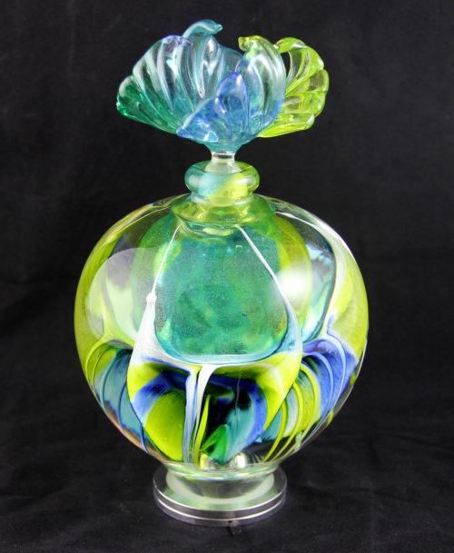 Flacon Lotus vert et bleu