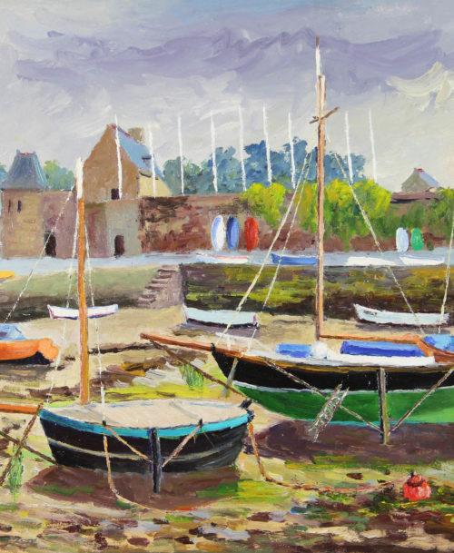 Marée basse à Saint Servan