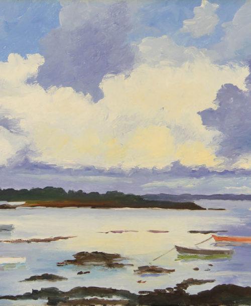 Nuages sur le golf du Morbihan