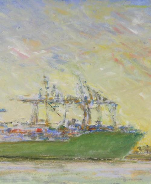 Lever du jour sur le port du Havre