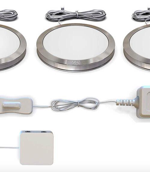 Coffret LED pour éclairage des verreries d'Art