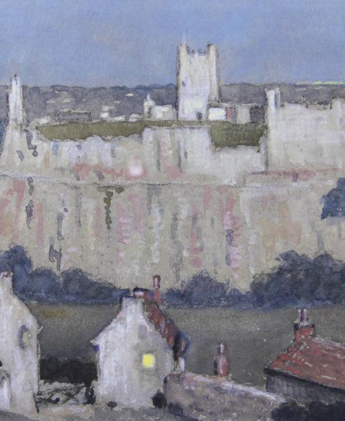 Le château de Richmond à la tombée de la nuit