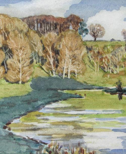 Paysage à Bibury