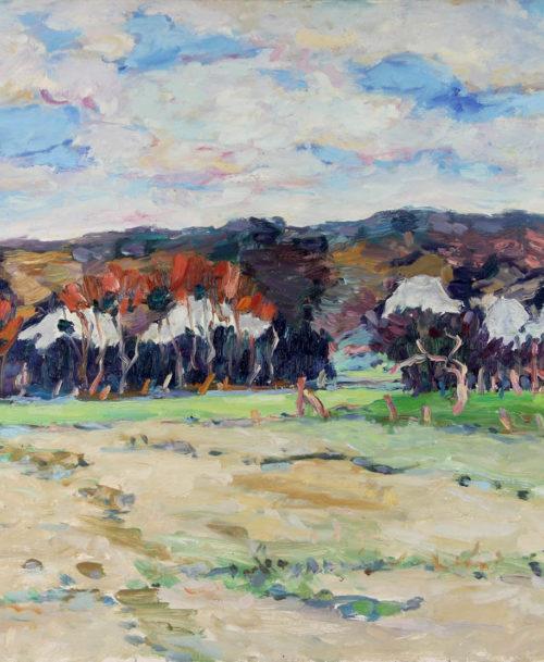 Paysage aux falaises, Les Andelys