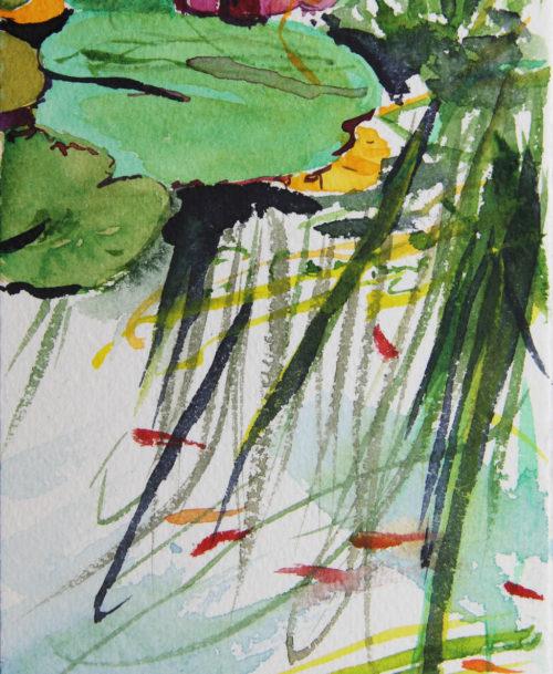 Nénuphars et poissons rouges 2