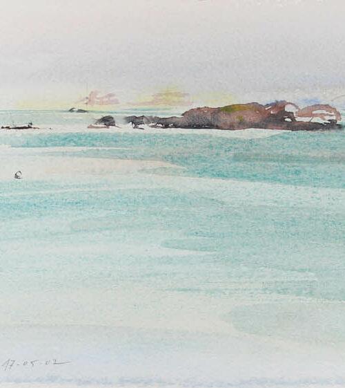 Trégastel, Baie Sainte Anne, marée montante