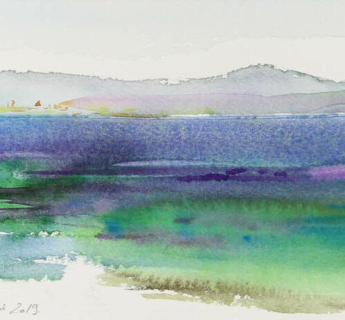Vue sur la baie de Saint Raphaël et l'Estérel