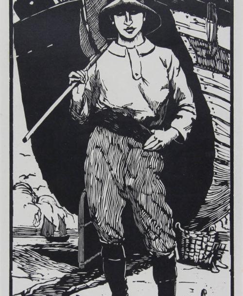 Le jeune pêcheur à Berck