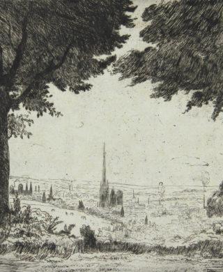 Vue de Rouen du Mont Saint-Aignan