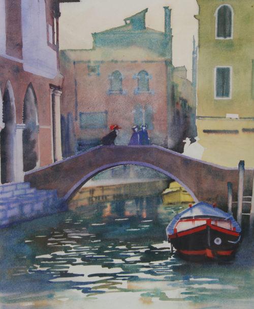 Canal à Venise pendant le carnaval