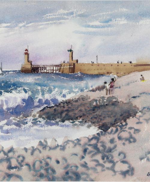 La plage à Fécamp
