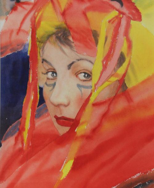 Portrait de femme, carnaval de Venise