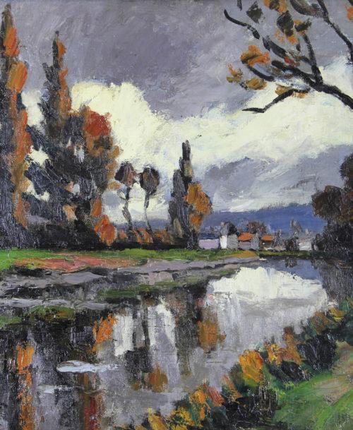 La Risle martime à Pont-Audemer, Hiver , 1928