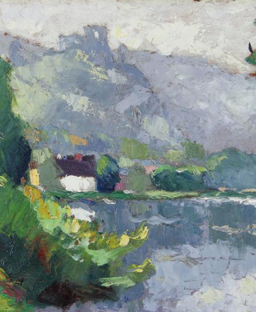 La Seine aux Andelys, Temps brumeux