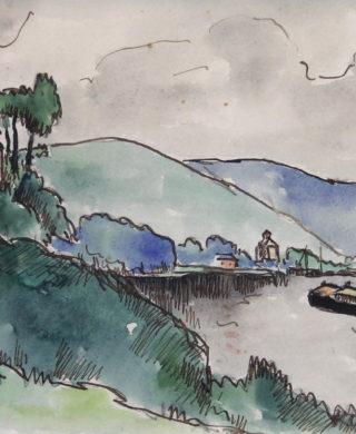 Les quais de Seine aux Andelys