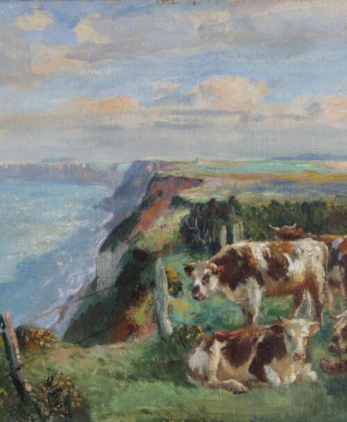 Troupeau sur les falaises